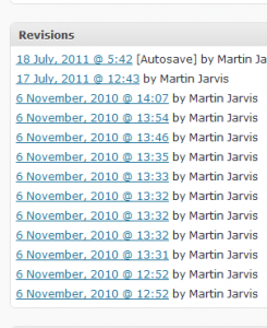 Managing WordPress Revisions