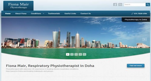 Fiona Mair Physiotherapy website screenshot