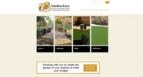 Screenshot of garden design WordPress website