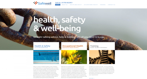 Screenshot of Health and Safety Website in WordPress