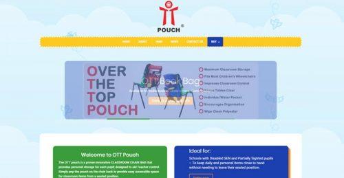 Screenshot of OTT pouch chair bag website