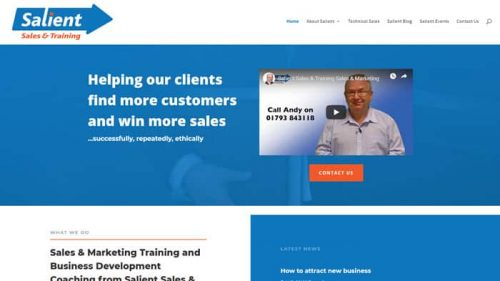 Screenshot of Swindon Sales Training Business