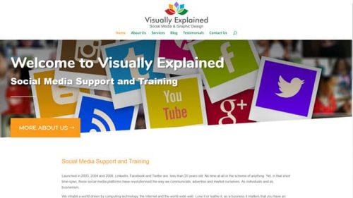 Social Media Training and Support website screenshot