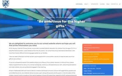 Primary School website built with Divi