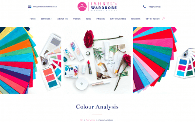 Website for personal styling and colour analysis
