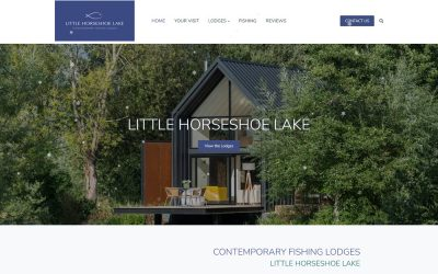 Webflow to WordPress conversion project for Fishing lake and lodges website